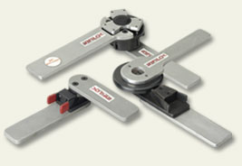 rotary locking hinges